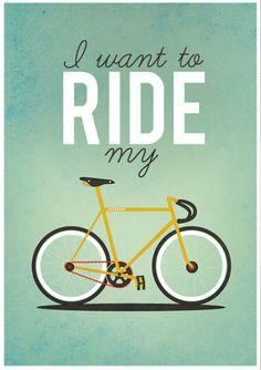 I do I do! Anybody wanna go for a ride?
