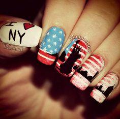 New York nails art