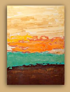 Abstract painting - I like the horizontal bands