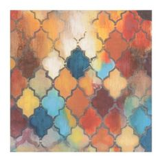 Casablanca Quatrefoil Canvas Art Print | Kirkland's temp online sale only $35& 40x40 print