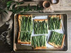 Spring Asparagus and Chive Tart