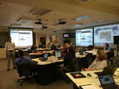 Delaware County EOC during an exercise. 2014