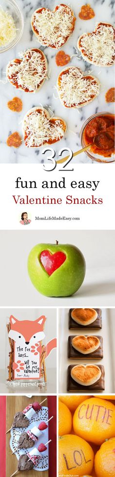Easy Valentine Snacks | Creating fun and easy Valentine snacks for your kids shouldn't take hours of work. Here are 32 quick and easy Valentine treats that are…