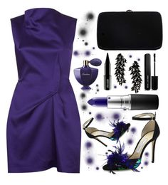 """""""...black and purple..."""" by sanela-enter ❤ liked on Polyvore featuring Jimmy Choo, Sergio Rossi, Marc Jacobs, Lord & Berry, Roland Mouret, Guerlain, Iosselliani and MAC Cosmetics"""
