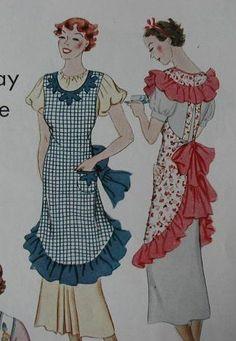 .Vintage Apron Pattern