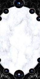 White Marble & Black Abstracts Guest Villa Decor