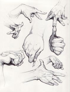 How to draw hands in different poses