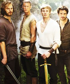 Arthur and his knights...ahhhhh must cach up on Merlin!!!