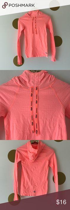 FILA Running Pullover - Neon Orange Stretchy FILA running Pullover. Size XS. Fila Tops Tees - Long Sleeve