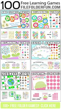 Free Printable Learning Centers