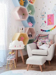30 Awesome Childs Room Ideas With Wall Decoration Kids Room Design Awesome Childs Decoration Ideas Room wall Baby Bedroom, Baby Room Decor, Girls Bedroom, Bedroom Decor, Bedroom Ideas, Girls Room Wall Decor, Bed Ideas, Wall Ideas, Nursery Decor