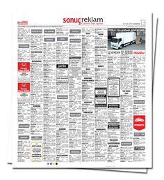 Online gazete ilanı, kayıp ilanı, seri sayfalarda emlak, eleman, vasıta, duyuru ve tüm ilan çeşitleri. www.gazeteilani.net