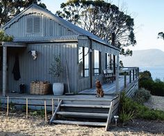 A revamped beach shack on its own private island Australian Holidays, Australian Homes, Dream Home Design, House Design, Beachfront House, Beach Shack, Beach Huts, Beach House Decor, Rustic Beach Houses