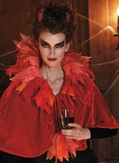Turn up the heat at your next Halloween Party! Just slip our Devil Capelet with Horns Costume over your favorite little black dress.