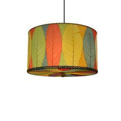 Eangee Small Multicolor Drum Pendant (Philippines) | Overstock.com Shopping - The Best Deals on Chandeliers & Pendants