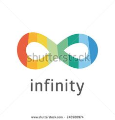 Vector stripped infinity sign. Abstract template. - stock vector