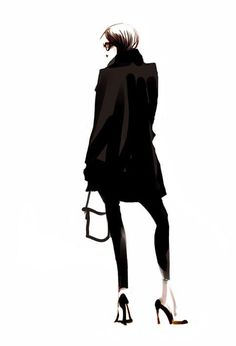 Fashion illustration - chic fashion sketch // Sophie Griotto