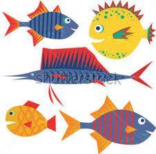 Resultado de imagen de dibujos de peces graciosos