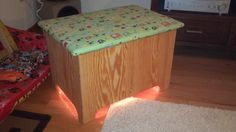 Homemade toy box with built in night light