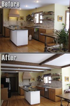 Great updated look using our beams!  #faux #wood #beams