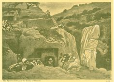 Phillip Medhurst presents 287/392 the James Tissot Jesus c 1896 The Apostles' Hiding Place. By (James) Jacques-Joseph Tissot, French, 1836-1902. After a painting now in the Brooklyn Museum, New York;...