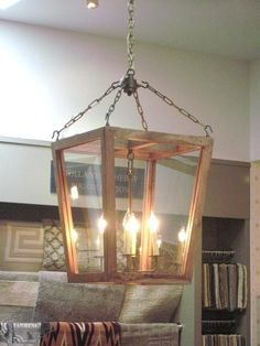 Wood Framed Lantern for the kitchen currently!!