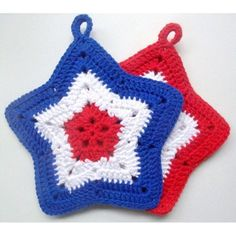 Memorial day is just around the corner! These red, white and blue pot holders are now available in the shop! #crochet #crochetshop #etsy #etsyshop #etsyseller #etsyfinds #sellonetsy #handmade #crochetlove #patriotic #memorialday #usa #america