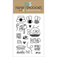 """Paper Smooches 4""""X6"""" Clear Stamps-Bee Mine 