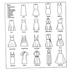From strapless to bowl gown -Dresses infographic Fashion Dress design