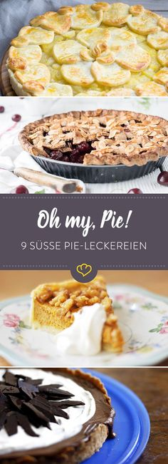 """Say hello to the """"American Way of Baking"""" and sweet pies with apple, cherry and … - Pumpkin Dessert Kinds Of Desserts, Sweet Desserts, Sweet Recipes, Healthy Cake, Healthy Desserts, Cake Cookies, Cupcake Cakes, Quiche, Sweet Pie"""
