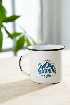 Morning Coffee Enamel Mug - Urban Outfitters