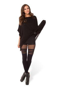 Sporty Stripes Hosiery 2.0 › Black Milk Clothing