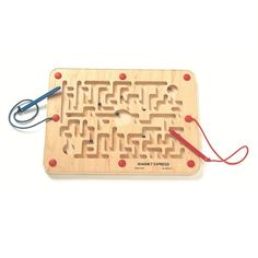 The Best of School Supply Eye-Hand Coordination Award Winner!  Give your kids something to play without worries. Introducing the Magnet Express from Anatex, authentic magnetic maze game. It features a magnetic wand to lead the metal balls along their path of destination. The winner will be the first player to get all the 5 balls in the center!