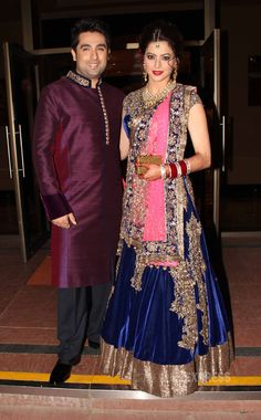 Aamna Sharif with Amit Kapoor at their wedding reception. #Fashion #Style #Bollywood #Beauty