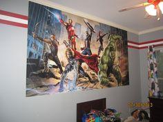 Superhero room....like the paint job