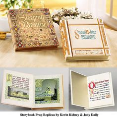 imagine reading your little girl or boy a story from one of these books  Disney storybook prop replicas