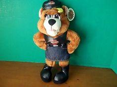 Harley Davidson Motor Cycles Official Biker Teddy Bear Skirt Black Hat Vest 1998