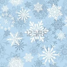 Seamless snowflakes background for winter and christmas theme photo