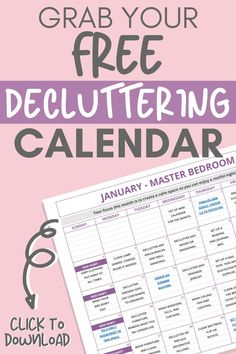 Organizing Calendar How to Declutter Your Home - Declutter in Minutes Calendar Organization, Household Organization, Organization Hacks, Organising Hacks, Decluttering Ideas, Bathroom Organization, Declutter Your Home, Organize Your Life, Organizing Your Home