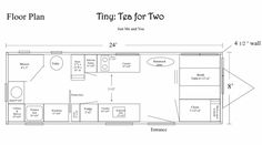 Booth and fridge (closet) The Plan, How To Plan, Plan Design, My Design, House Floor Plans, Home Organization, Tiny House, Entrance, Flooring