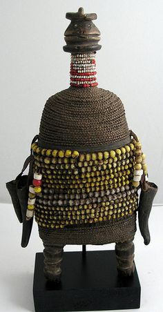 Africa |  Bound with cord and beaded Namji / Fali doll Cameroon. |  © Ann Porteus, Sidewalk Tribal Gallery, via Flickr
