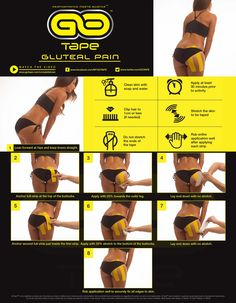GO Tape Application Instructions Gluteal Pain #HowToTape #SuccessfulTaping #Instruction