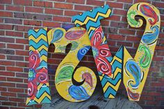 wood letters by MINDYandBEVERLY on Etsy, $35.00