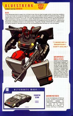 Transformer of the Day: Bluestreak