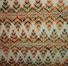 Huck Weaving Throw, Blanket or Afghan - Swedish - Vintage - 52 X 60 Inches