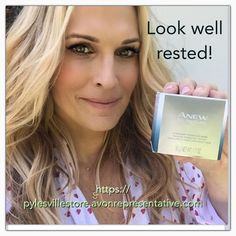 Supermodel Molly Sims looks well rested with ANEW Overnight Hydration Mask! You can too! https://pylesvillestore.avonrepresentative.com #avon #skincare  #avonpylesvillestore