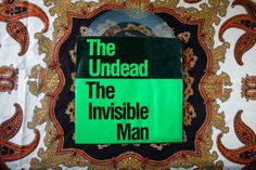 """The Undead - Invisible Man Rare Punk Vintage Vinyl 45 7"""" Record. Bobby Steele of The Misfits Goth Horror Punk Rock on Clear Vinyl"""