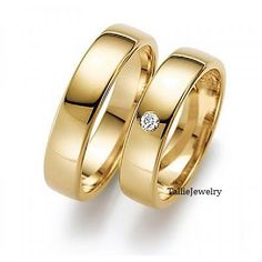 His & Hers Mens Womens Matching 14K Yellow Gold by TallieJewelry, $960.00