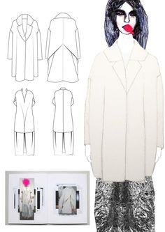 Fashion Sketchbook - fashion illustration & technical fashion drawings; fashion student portfolio // Lisa Clayton