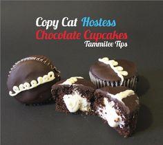 Copy Cat Hostess Chocolate Cupcakes.